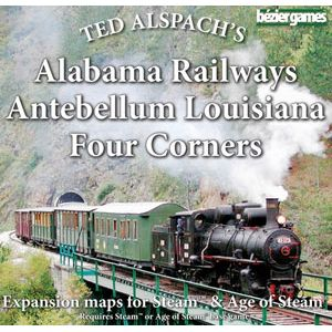 Age of Steam Expansion: Alabama Railways, Antebellum Louisiana & Four Corners