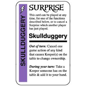 Pirate Fluxx: Skullduggery Promo Card